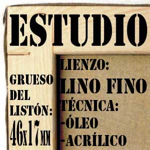 BASTIDOR ESTUDIO (46X17MM) LINO Nº1 FINO ÓLEO/ACRÍLICO (ACABADO ACRÍLICO)