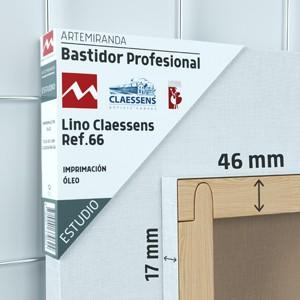 BASTIDOR ESTUDIO (46X17MM) LINO Nº3 MEDIO ÓLEO (ACABADO ALQUÍDICO)