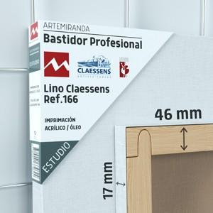 BASTIDOR ESTUDIO (46X17MM) LINO Nº3 MEDIO ÓLEO/ACRÍLICO (ACABADO ACRÍLICO)