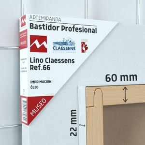 BASTIDOR MUSEO (60X22 MM) LINO Nº3 MEDIO ÓLEO (ACABADO ALQUÍDICO)