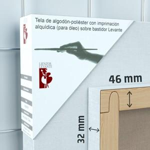 BASTIDOR GALERÍA 3D (46X32 MM) ALGODÓN Nº 2 FINO ÓLEO (ACABADO ALQUÍDICO)