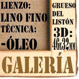 BASTIDOR GALERÍA 3D (46X32 MM) LINO Nº1 FINO ÓLEO (ACABADO ALQUÍDICO)