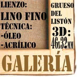 BASTIDOR GALERÍA 3D (46X32 MM) LINO Nº1 FINO ÓLEO/ACRÍLICO (ACABADO ACRÍLICO)