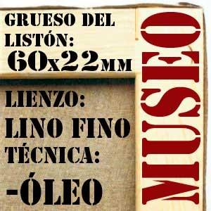 BASTIDOR MUSEO (60X22 MM) LINO Nº1 FINO ÓLEO (ACABADO ALQUÍDICO)