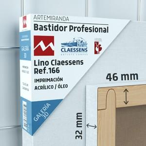 BASTIDOR PROFESIONAL ARTEMIRANDA GALERÍA 3D (46X32 MM)LINO MEDIO-FINO CLAESSENS REF.166 ÓLEO/ACRÍLICO (ACABADO ACRÍLICO)