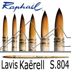 RAPHAEL PINCEL PLUMA SINTÉTICO DORADO LAVIS KAERELL S SERIE 804