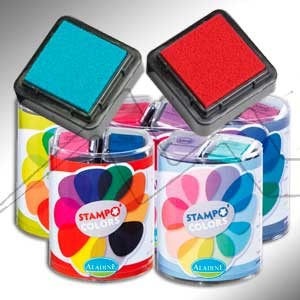 ALADINE STAMPO COLORS - SET DE TAMPONES PARA ESTAMPAR CON SELLOS