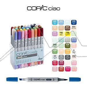 COPIC CIAO ESTUCHE DE 36 ROTULADORES. SET B