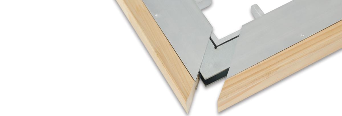 Bastidores aluminio + madera
