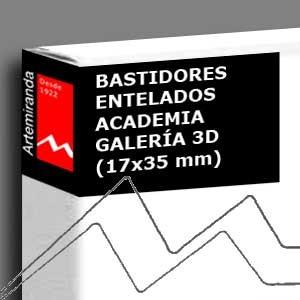 ARTEMIRANDA BASTIDOR ACADEMIA GALERÍA 3D (17X35 MM) ALGODÓN IMPRIMACIÓN ÓLEO/ACRÍLICO