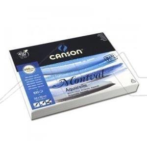 CANSON MONTVAL BLOC PARA ACUARELA 200 G ENCOLADO GRANO FINO