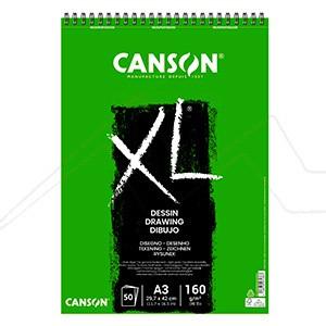 CANSON BLOC XL DESSIN 160 G MICROPERFORADO ESPIRAL LADO CORTO 50 HOJAS GRANO LIGERO