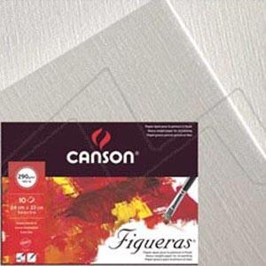 CANSON FIGUERAS BLOC PARA ÓLEO/ACRÍLICO 290 G ENCOLADO 4 LADOS