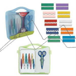 MAPED CREATIVE CREA CUT SET - SET DE TIJERAS Y HOJAS DE CORTE DECORATIVAS