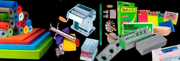 Manualidades: Foamy (goma eva), pastas poliméricas (Fimo, Sculpey...) Fieltro, Rafia...