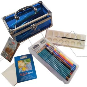 DERWENT WATERCOLOR CADDY BOX - CAJA DE MATERIALES ACUARELABLES