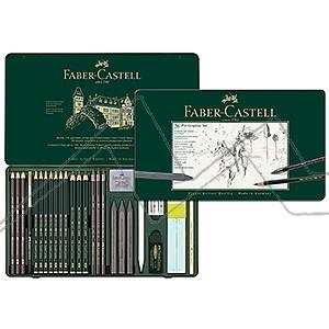 FABER-CASTELL PITT ESTUCHE DE METAL 26 GRAFITOS