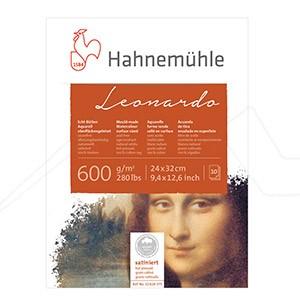 HAHNEMÜHLE LEONARDO BLOC ACUARELA 600 G - 100 % ALGODÓN