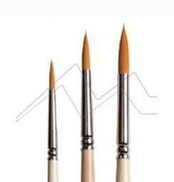 ART CREATION SET 3 PINCELES REDONDOS FIBRA TORAY NARANJA MANGO CORTO