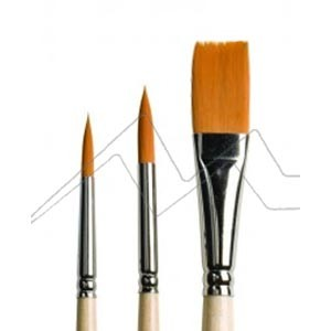 ART CREATION SET 3 PINCELES SURTIDOS FIBRA TORAY NARANJA MANGO CORTO