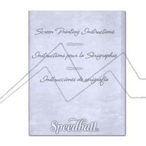 SPEEDBALL LIBRO INSTRUCCIONES DE SERIGRAFÍA