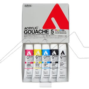HOLBEIN ACRYLA GOUACHE PRIMARY MIXING D421 - SET 5 TUBOS DE 20 ML COLORES PRIMARIOS