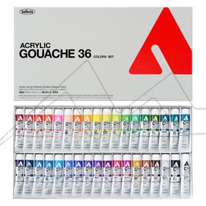 HOLBEIN ACRYLA GOUACHE COLORS SET D418 - SET 36 TUBOS DE 20 ML