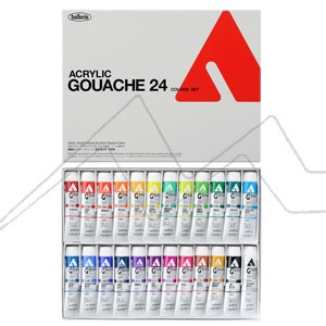 HOLBEIN ACRYLA GOUACHE COLORS SET D416 - SET 24 TUBOS DE 20 ML