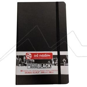 ART CREATION SKETCH BOOK BLACK BLOC - BLOC HOJAS NEGRAS