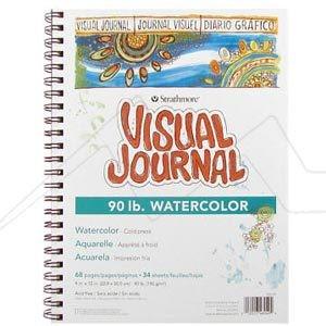 STRATHMORE VISUAL JOURNAL WATERCOLOR BLOC 190G