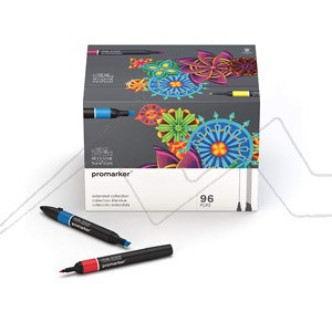 WINSOR & NEWTON PROMARKER EXTENDED COLLECTION - SET 96 COLORES