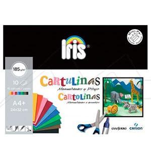 MINIPACK CARTULINAS IRIS CANSON GUARRO 185 G
