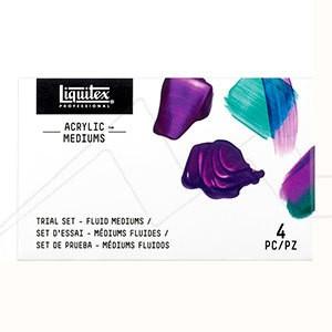 LIQUITEX SET MEDIUMS TRIAL 4 X 59 ML