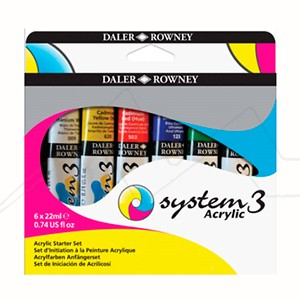 DALER ROWNEY SET STARTER ACRÍLICO SYSTEM3 ORIGINAL