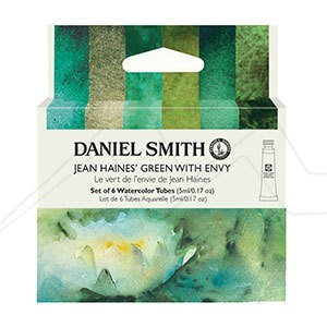 DANIEL SMITH JEAN HAINES GREEN WITH ENVY MASTER ARTIST SET - SET DE ACUARELAS DANIEL SMITH SELECCIÓN VERDES JEAN HAINE