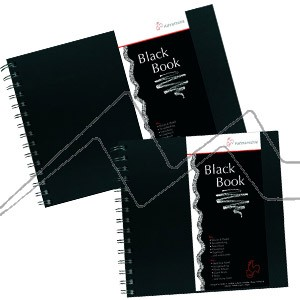 BLOC HAHNEMÜHLE BLACK BOOK - BLOC DE HOJAS NEGRAS