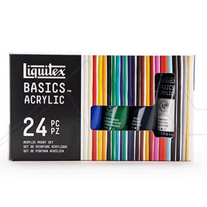 LIQUITEX BASICS ACRYLIC SET COLORES VARIADOS CON 24 TUBOS DE 22 ML