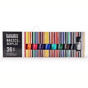 LIQUITEX BASICS ACRYLIC SET COLORES VARIADOS CON 36 TUBOS DE 22 ML