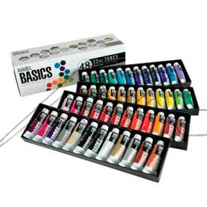 LIQUITEX BASICS ACRYLIC SET COLORES VARIADOS CON 48 TUBOS DE 22 ML