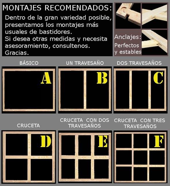 BASTIDOR MADERA MEDIDAS UNIVERSALES LISTON ESTUDIO (46X17 MM)
