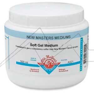 OLD HOLLAND NEW MASTERS GEL MÉDIUM SUAVE BRILLANTE - SOFT GEL MEDIUM GLOSS