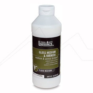 LIQUITEX MÉDIUM BARNIZ BRILLANTE / GLOSS MEDIUM & VARNISH