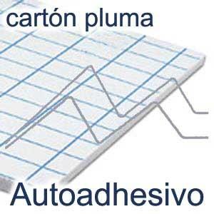 TOPFOAM CARTÓN PLUMA BLANCO ADHESIVO 1 CARA 5 ó 10 MM