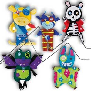 FOLIA LITTLE MONSTERS - Kit completo para montar muñecos de fieltro