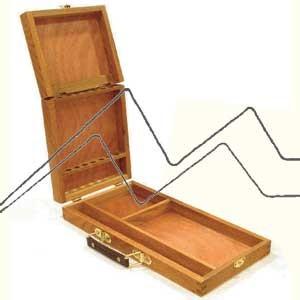 CAJA PINCELES ACUARELA DOBLE (GRANDE) 33X16,5X5 CM