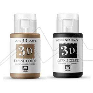 VALLEJO 3D EXPAND COLOR - Pintura 3D para tela