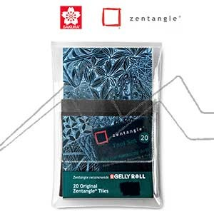 ZENTANGLE TOOL SET 20 TARJETAS NEGRAS