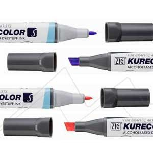 KURETAKE ZIG KURECOLOR TWIN S - ROTULADOR AL ALCOHOL DE DOBLE PUNTA