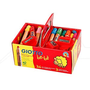 GIOTTO BEBÉ SUPER LÁPICES SCHOOL PACK 36 UNIDADES +3 SACAPUNTAS