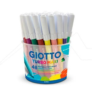 GIOTTO TURBO MAXI BOTE 48 SURTIDO TINTA SUPERLAVABLE